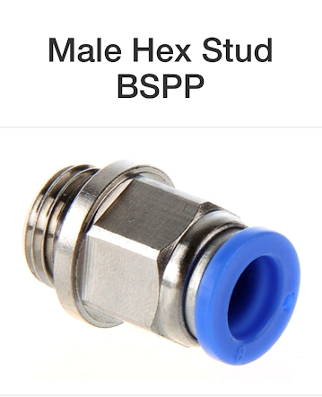 Male Hex Stud BSPP