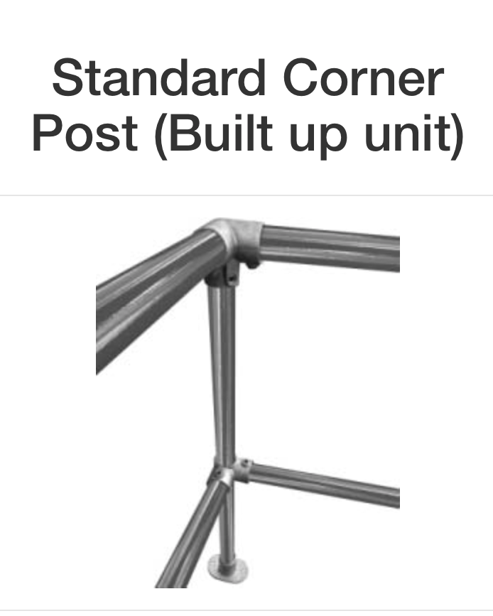 Standard Corner Post Clamp Fitting
