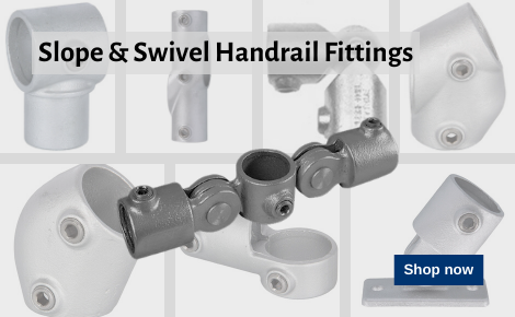 Slope & Swivel Handrail Fittings